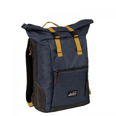 New Rebels Rolltop Backpack Rugzak Jack 15.6'' Donker Blauw