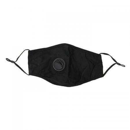 Wasbare Katoenen Mondkapje Met Filter Zwart