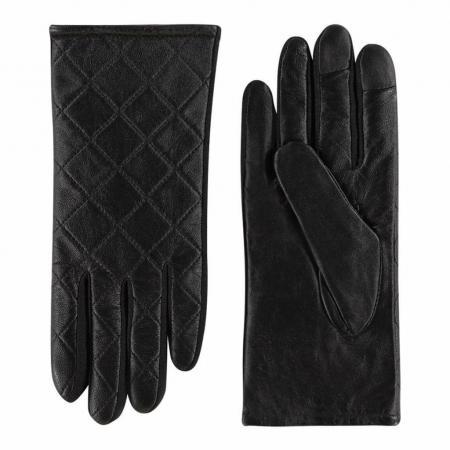 Laimböck Dames Touchscreen Handschoenen Akita Zwart Maat 6.5
