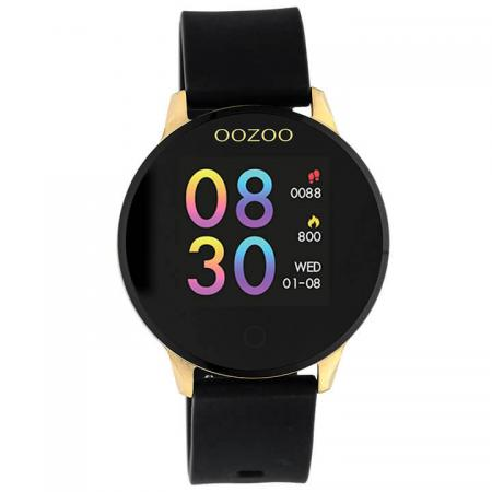 OOZOO Smartwatch Rubber Zwart/Goud | Q00120