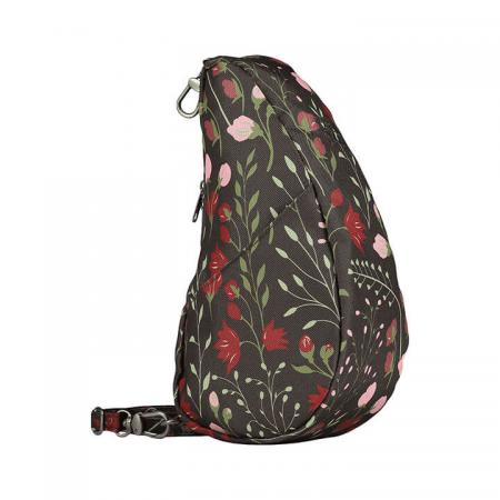 Healthy Back Bag Textured Nylon Large Baglett Wildflowers