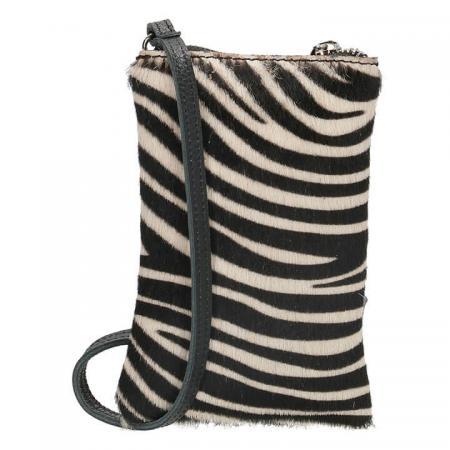 Charm London Phone Bag Elisa Telefoontasje Vachtje Zebra