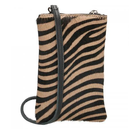 Charm London Phone Bag Elisa Telefoontasje Vachtje Zebra Bruin