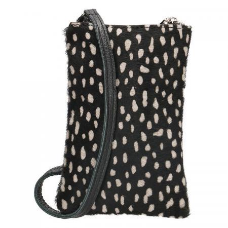 Charm London Phone Bag Elisa Telefoontasje Vachtje White Dot
