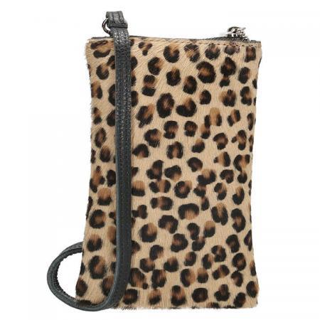 Charm London Phone Bag Elisa Telefoontasje Vachtje Leopard