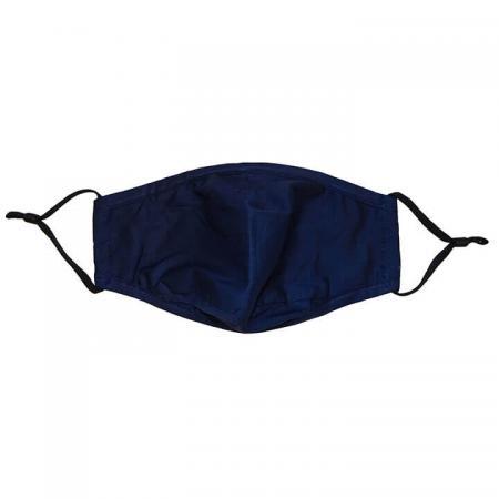 Wasbare Katoenen Mondkapje 3 Laags Navy Blauw