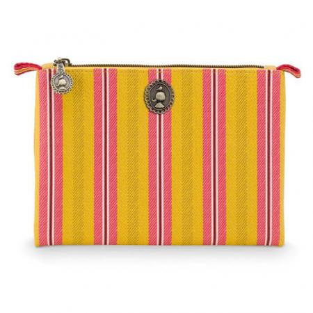 Pip_Studio_Cosmetic_Flat_Pouch_Small_Blurred_Lines_Yellow
