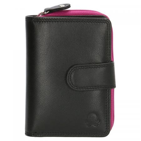 Happy Wallet Rainbow Portemonnee met Drukknoop Zwart