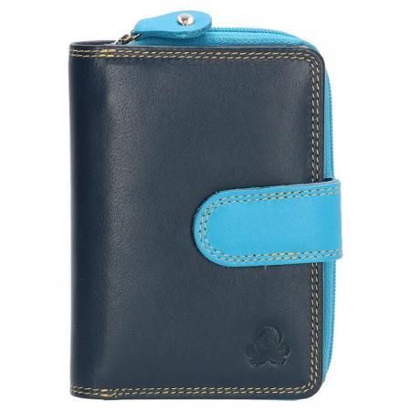Happy Wallet Rainbow Portemonnee met Drukknoop Blauw