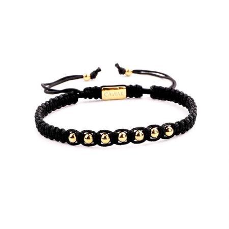 Caviar Collection Armband Alpha Black X Gold