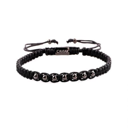 Caviar Collection Armband Alpha Black X Gun Black
