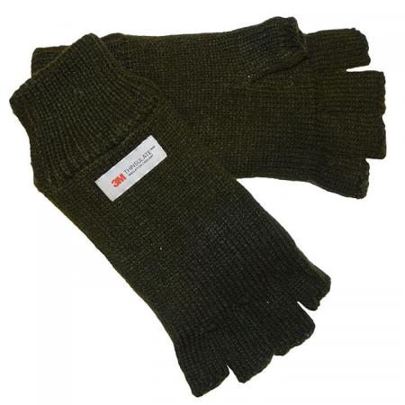Thinsulate Groene Vingerloze Handschoenen