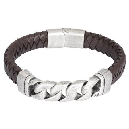 iXXXi Men Leather Armband Albert Bruin | Maat 21