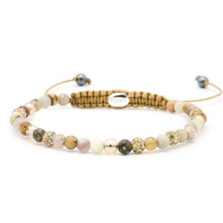 Karma Armband Spiral Freezing Blush Gold Crystal