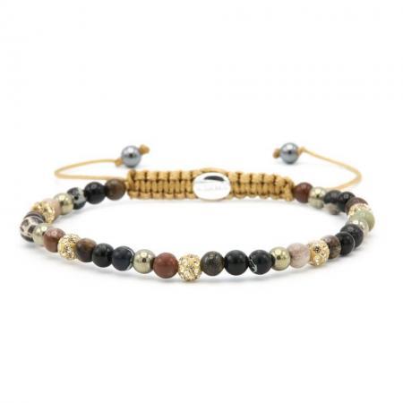 Karma Armband Spiral Gold at Night Gold Crystal