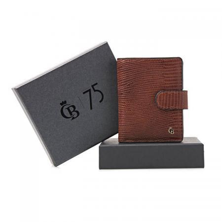Castelijn & Beerens Mini Wallet RFID Giftbox Cognac