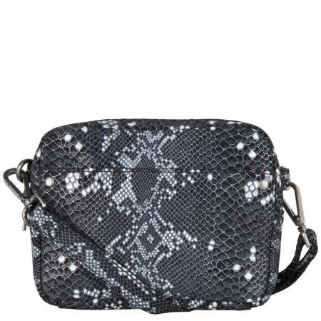 Cowboysbag Crossbody Schoudertas Bag Bobbie X Bobbie Bodt Snake Black and White