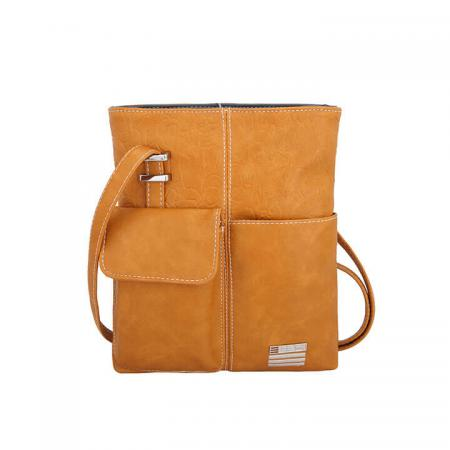 EEEZI Crossbody Schoudertas Ocher - Dark Grey