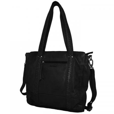 Bag2Bag Shopper / Schoudertas Elvas Zwart