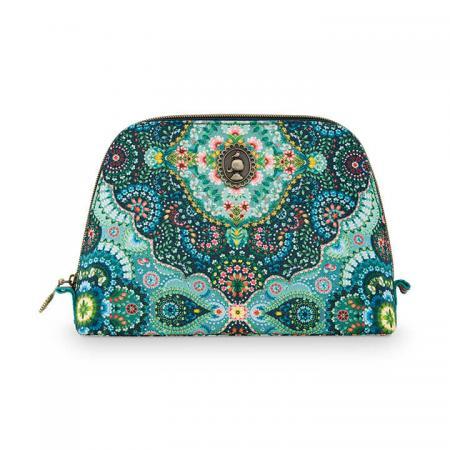 Pip Studio Toilettas Cosmetic Bag Triangle Delight Blue