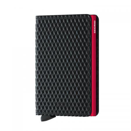 Secrid Slim Wallet Portemonnee Cubic Black - Red