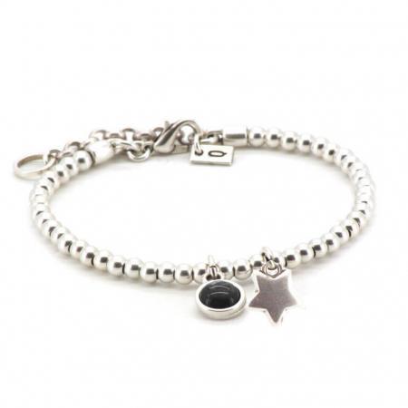 Qoss Armband Zoey Ster Zwart