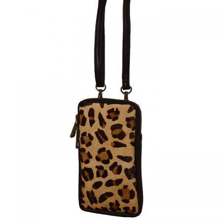 Bear Design Phone Bag Telefoontasje Black Cheetah