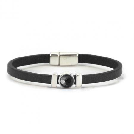 Qoss Zwarte Armband Charlotte Swarovski Zwart