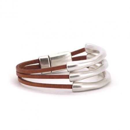 Qoss Naturel Armband Jacky 3 Beugels