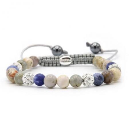 Karma Armband Spiral Beach House White Crystal