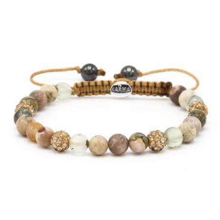 Karma Armband Spiral Glaze Gold Crystal