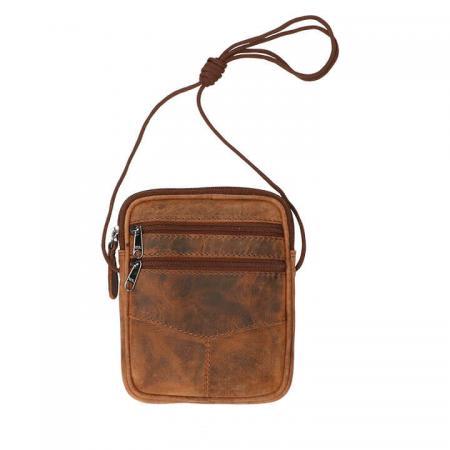 Leather Design Schoudertasje/Heuptas Beltbag Hunter Bruin
