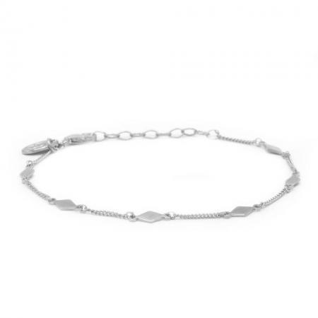 Karma Armband Diamond Shape Zilver