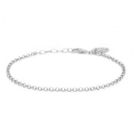 Karma Armband Round Chain Zilver