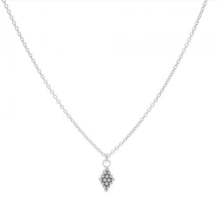 Karma Ketting Dots Diamond Zilver