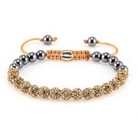 Karma Armband Spiral Full Crystal Gold Crystal