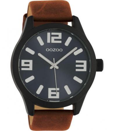 OOZOO Timepieces Horloge Bruin/Blauw | C10677
