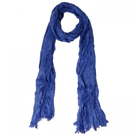 Daspartout Langwerpige Katoenen Sjaal Blauw