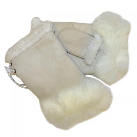 Vingerloze Dames Handschoenen Off White