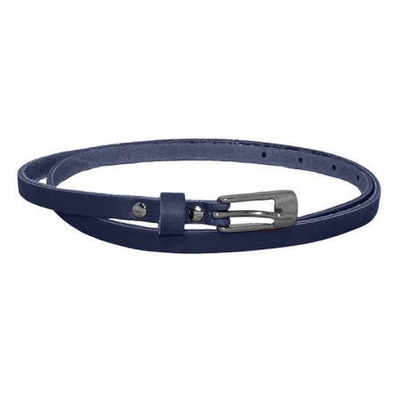 Take It Leren Riem 1 cm Blauw