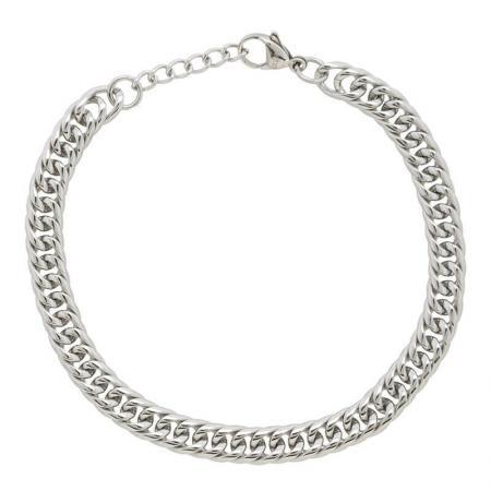 iXXXi Armband Platte Schakels Montevideo Zilver