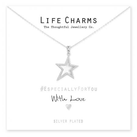 Life Charms Ketting met Giftbox CZ Star Necklace
