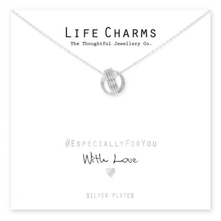 Life Charms Ketting met Giftbox Silver Lucky Rings
