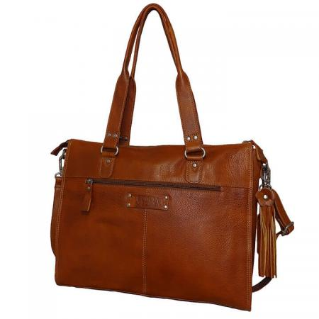 Bag2Bag Laptoptas 15.6'' Boston Tan Cognac