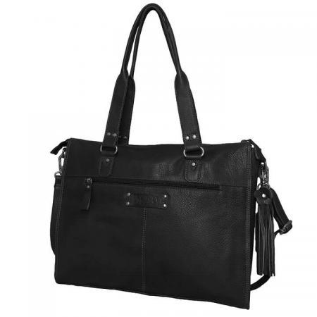 Bag2Bag Laptoptas 15.6'' Boston Zwart