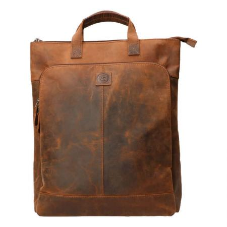 Leather Design Rugzak 15'' Hunter Bruin