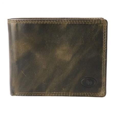 Leather Design Billfold RFID Hunter Groen