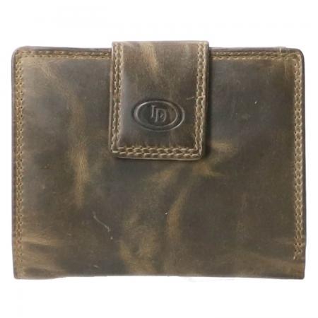 Leather Design Portemonnee met Drukknoop RFID Hunter Groen