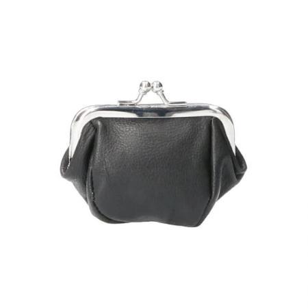 Leather Design Klein Beugel Beursje Zwart