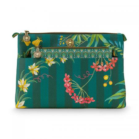 Pip Studio Toilettas Set Cosmetic Bag Combi Fleur Grandeur Green